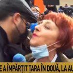 Mihai Gâdea a așteptat-o pe Flavia Groșan în fața Colegiului Medicilor ca să îi ceară un tratament pentru febră la limbă