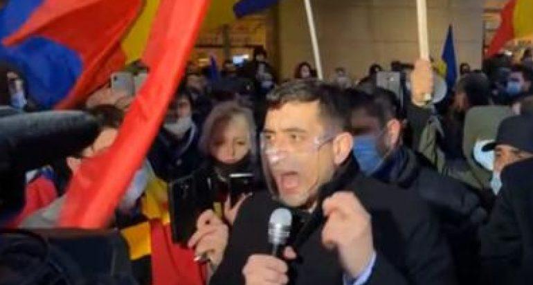 george simion la protest