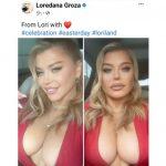 Loredana Groza, pe cale să răcească la plămâni fiindcă umblă dezbrăcată (la plămâni)