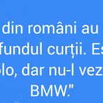 România din spatele BMW-ului