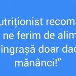 Nutriționiștii lovește din nou